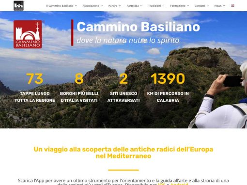 Cammino Basiliano – web design